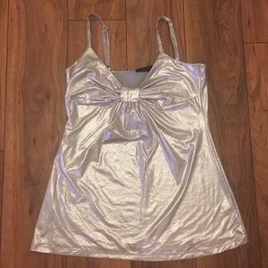 The Limited Tops - Silver bow tank